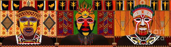 Wall Art - Digital Art - African Tribesmen by Peter Awax
