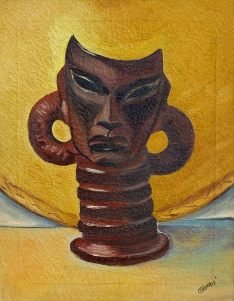 Painting - African Vase Statue Painting by Chris McCullough