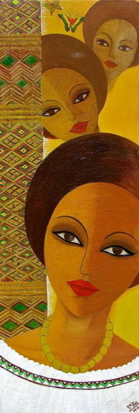 Painting - Afro Beauty by Mahlet
