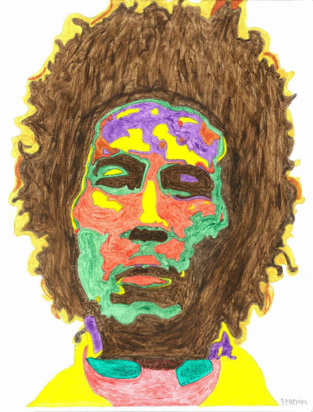 The Wailers Painting - Afro Bob Marley by Stormm Bradshaw