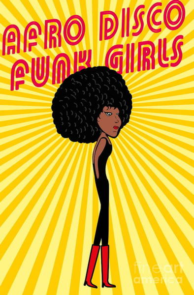 Wall Art - Digital Art - Afro Disco Girls by A1vector
