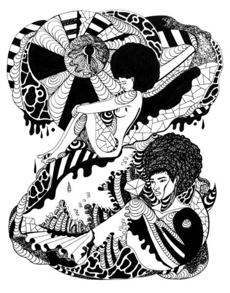 Drawing - Afrocentric Escape by Kenal Louis