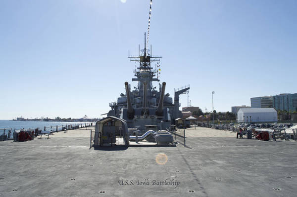 Wall Art - Photograph - Aft Turret 3 Uss Iowa Battleship 02 by Thomas Woolworth