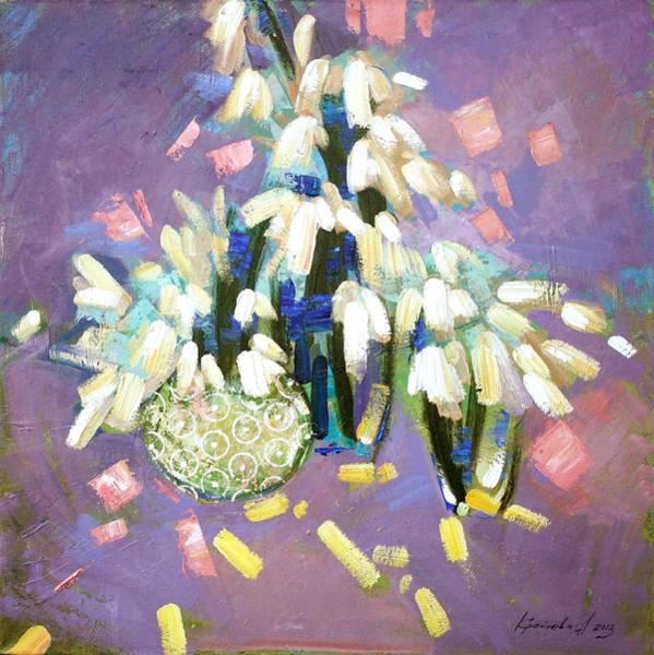 Snowdrop Painting - After A Long Sleep by Anastasija Kraineva