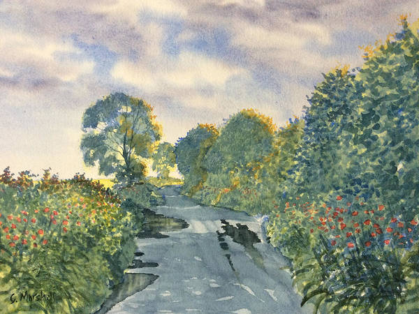 Painting - After A Shower On Woldgate by Glenn Marshall