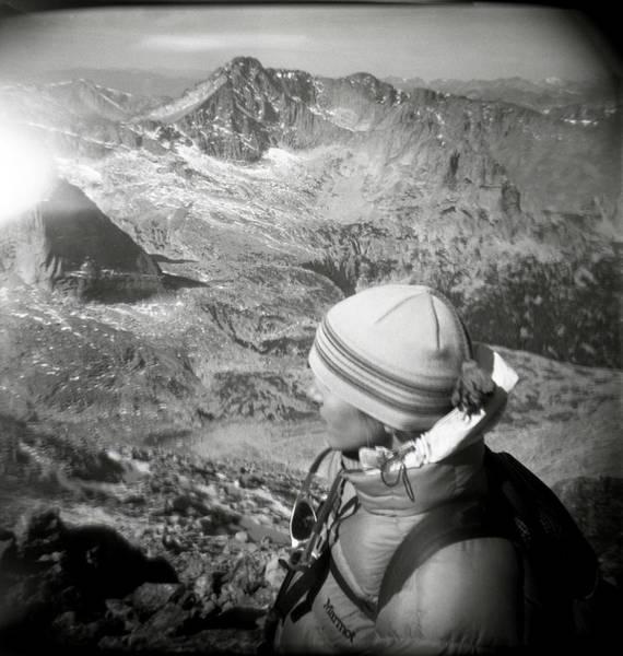 Wall Art - Photograph - After Climbing Longs Peak, A Woman by Michael Hanson