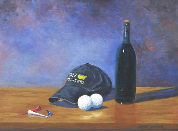 Augusta Masters Painting - After Eighteen by Jerry Walker