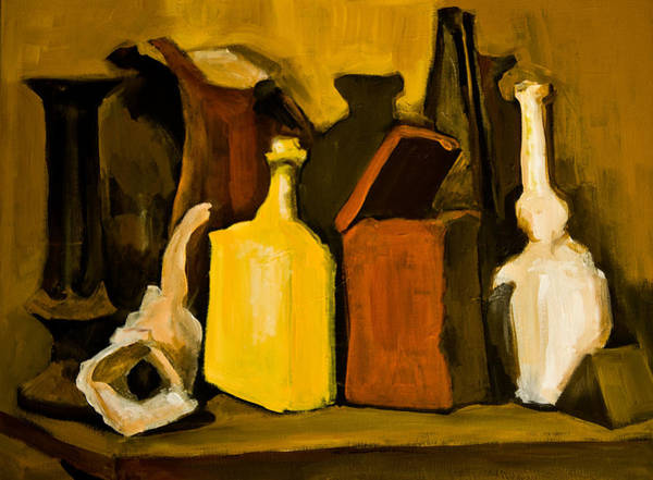 Painting - After G. Morandi 2 by Maxim Komissarchik