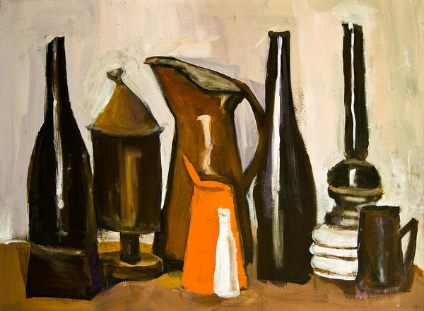 Painting - After G.morandi 3 by Maxim Komissarchik