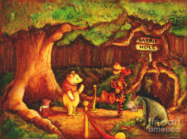 Tigger Wall Art - Painting - After Hours by Tia Harper