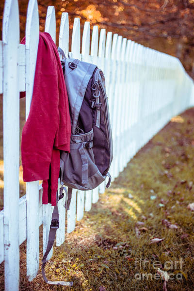 Picket Fence Photograph - After School by Edward Fielding