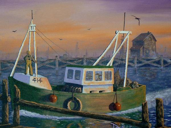 Painting - After The Catch by Ray Nutaitis