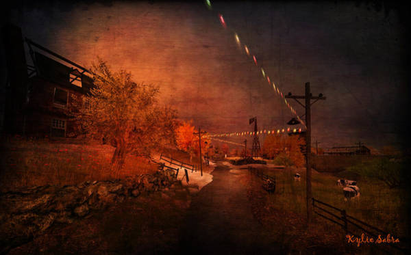 Bodie Digital Art - After The Fair by Kylie Sabra