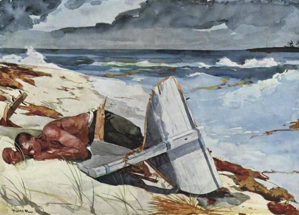 Shipwreck Digital Art - After The Hurricane by Winslow Homer