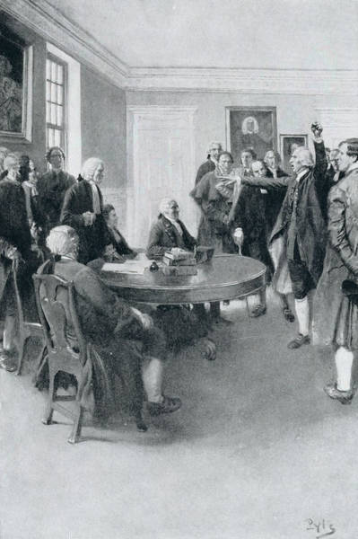 Brandywine Wall Art - Photograph - After The Massacre Samuel Adams Demanding Of Governor Hutchinson The Instant Withdrawal Of British by Howard Pyle