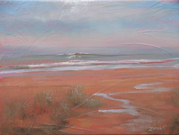 Coast Line Painting - After The Rain by Laura Lee Zanghetti