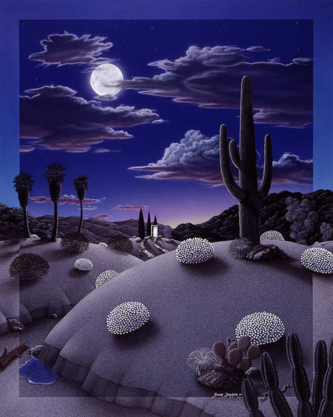 Full Moon Painting - After The Rain by Snake Jagger