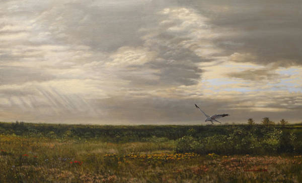 Meadow Lark Painting - After The Rain The Larks Started Singing by Valentin Katrandzhiev