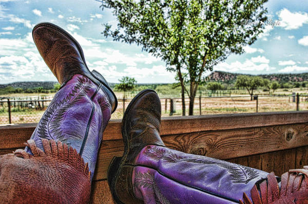 Texas Ranch Photograph - After The Ride by Karen Slagle