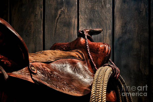 Saddle Photograph - After The Round Up by Olivier Le Queinec
