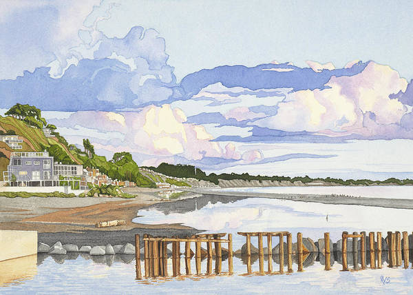 Sand Creek Painting - After The Storm Rio Del Mar by Kerry Van Stockum