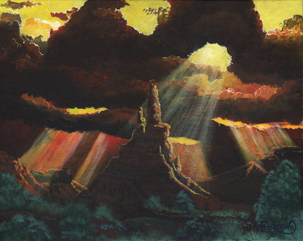 Bluffs Painting - After The Storm by Timithy L Gordon