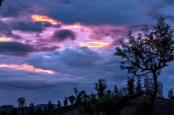 Grey Cloud Photograph - Afterglow At High Altitude by K Jayaram