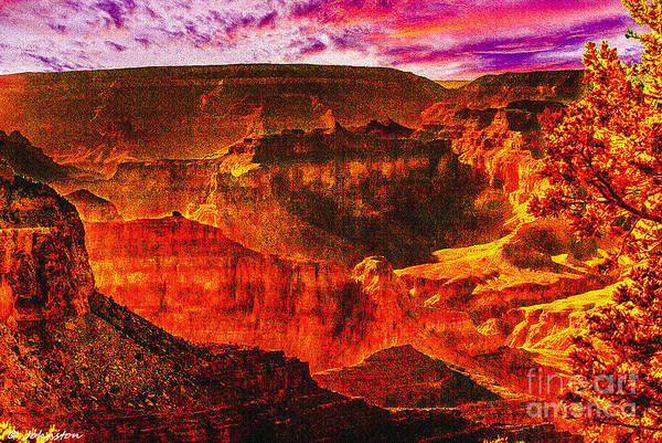 Photograph - Afterglow Grand Canyon National Park by Bob and Nadine Johnston