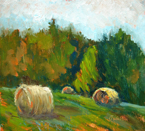 Painting - Afternoon Bales by Judy Fischer Walton