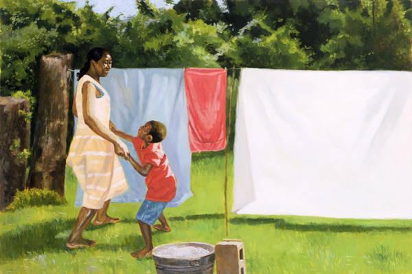 Motherhood Painting - Afternoon Break by Colin Bootman