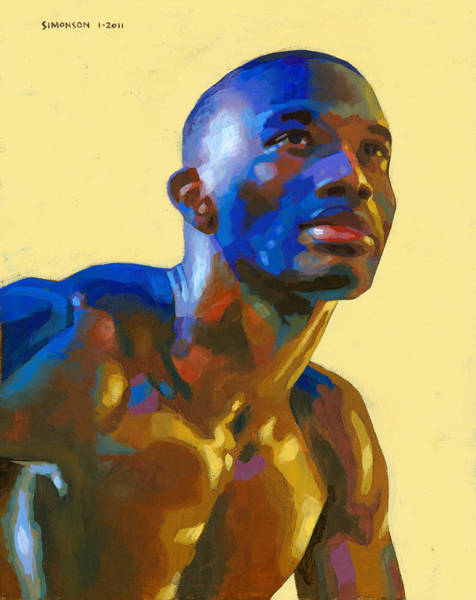 Masculine Painting - Afternoon Colors by Douglas Simonson