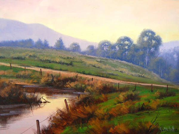 Dam Wall Art - Painting - Afternoon Glow by Graham Gercken
