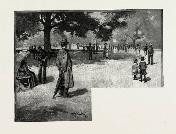 Toronto Drawing - Afternoon In The Park, Toronto And Vicinity by Canadian School