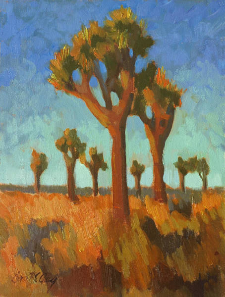 Wall Art - Painting - Afternoon Light At Joshua Tree by Diane McClary