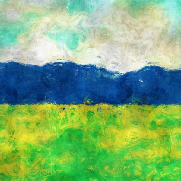 Wall Art - Digital Art - Afternoon Meadow by David G Paul