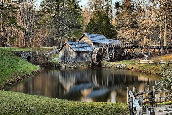 Photograph - Afternoon Reflections Of Mabry Mill by Adam Jewell