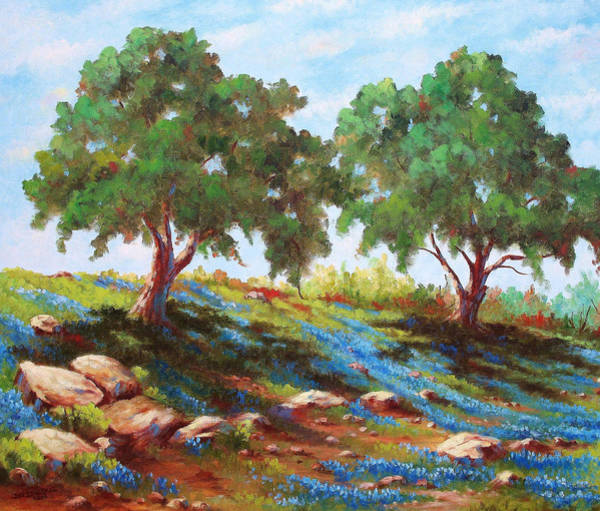 Wall Art - Painting - Afternoon Shade by David G Paul