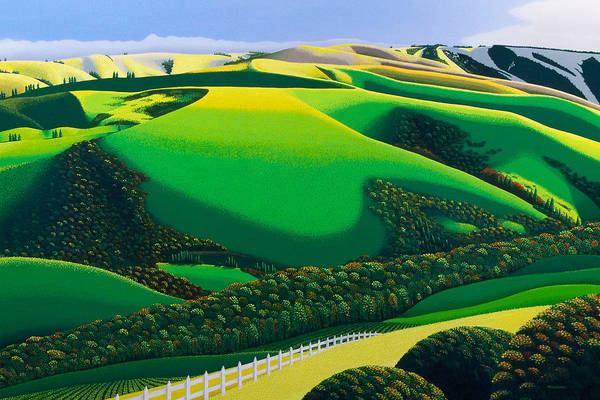 Area Painting - Afternoon Shadows by Michael Wicksted
