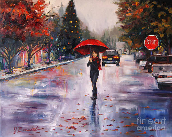 Wall Art - Painting - Afternoon Stroll by Jennifer Beaudet