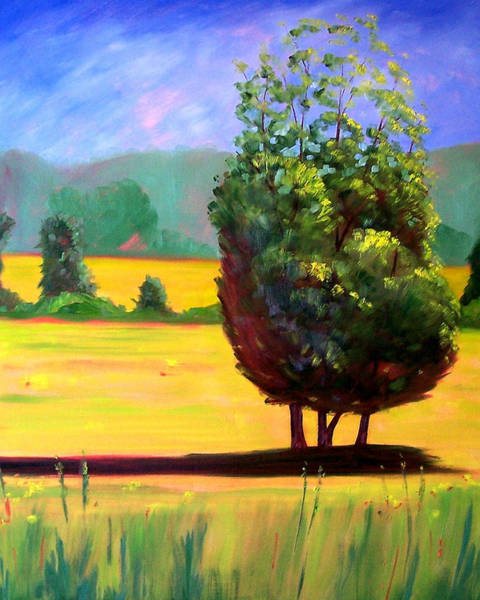 Prairie Grass Painting - Afternoon Sun by Nancy Merkle