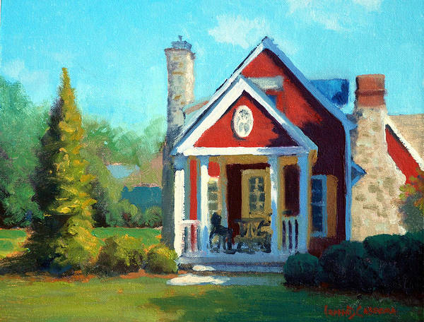 Wall Art - Painting - Afternoon The Gameskeeper Cottage by Armand Cabrera