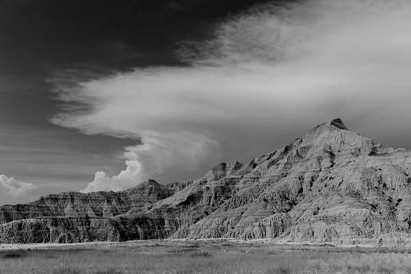 North Dakota Badlands Wall Art - Photograph - Afternoon Thunderstorm Pine Ridge Agency Sd by Troy Montemayor