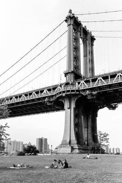 Photograph - Afternoon Under The Manhattan Bridge - Brooklyn Bridge Park by Gary Heller