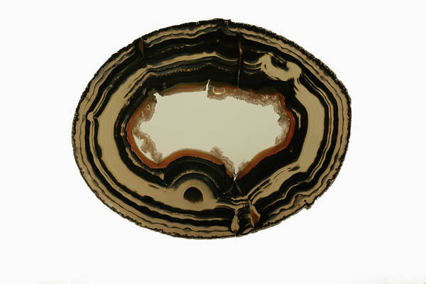 Geodes Photograph - Agate Geode Slice by Science Stock Photography/science Photo Library