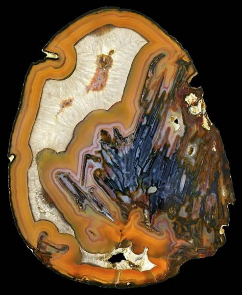 Wall Art - Photograph - Agate by Natural History Museum, London/science Photo Library