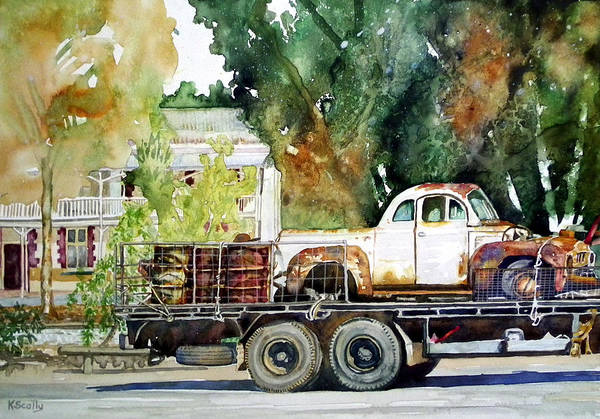Utility Painting - Aged Beauties by Kerry Scally