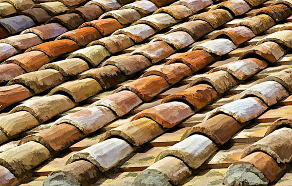 Photograph - Aged Terracotta Roof Tiles by David Letts