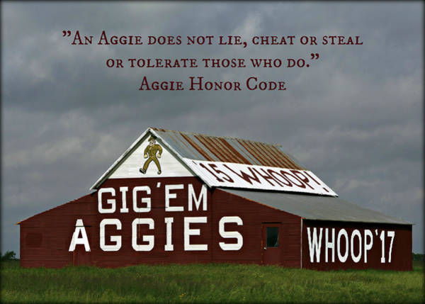 Station To Station Photograph - Aggie Honor by Stephen Stookey