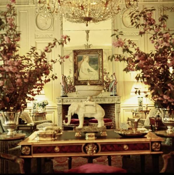 Wall Art - Photograph - Agnelli's Salon by Horst P. Horst