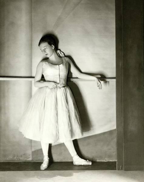 Photograph - Agnes De Mille Resting Her Arm On A Balance Bar by Nickolas Muray